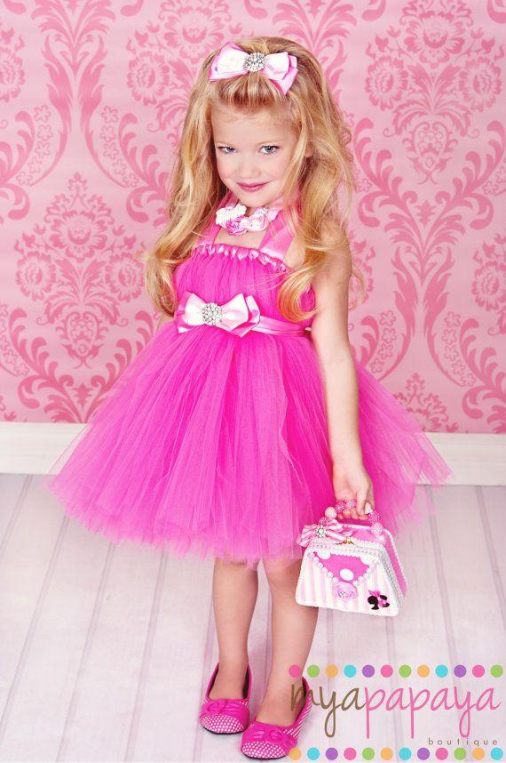 Barbie Costume Tutu Dress 12months5t Matching By Myapapayaboutique