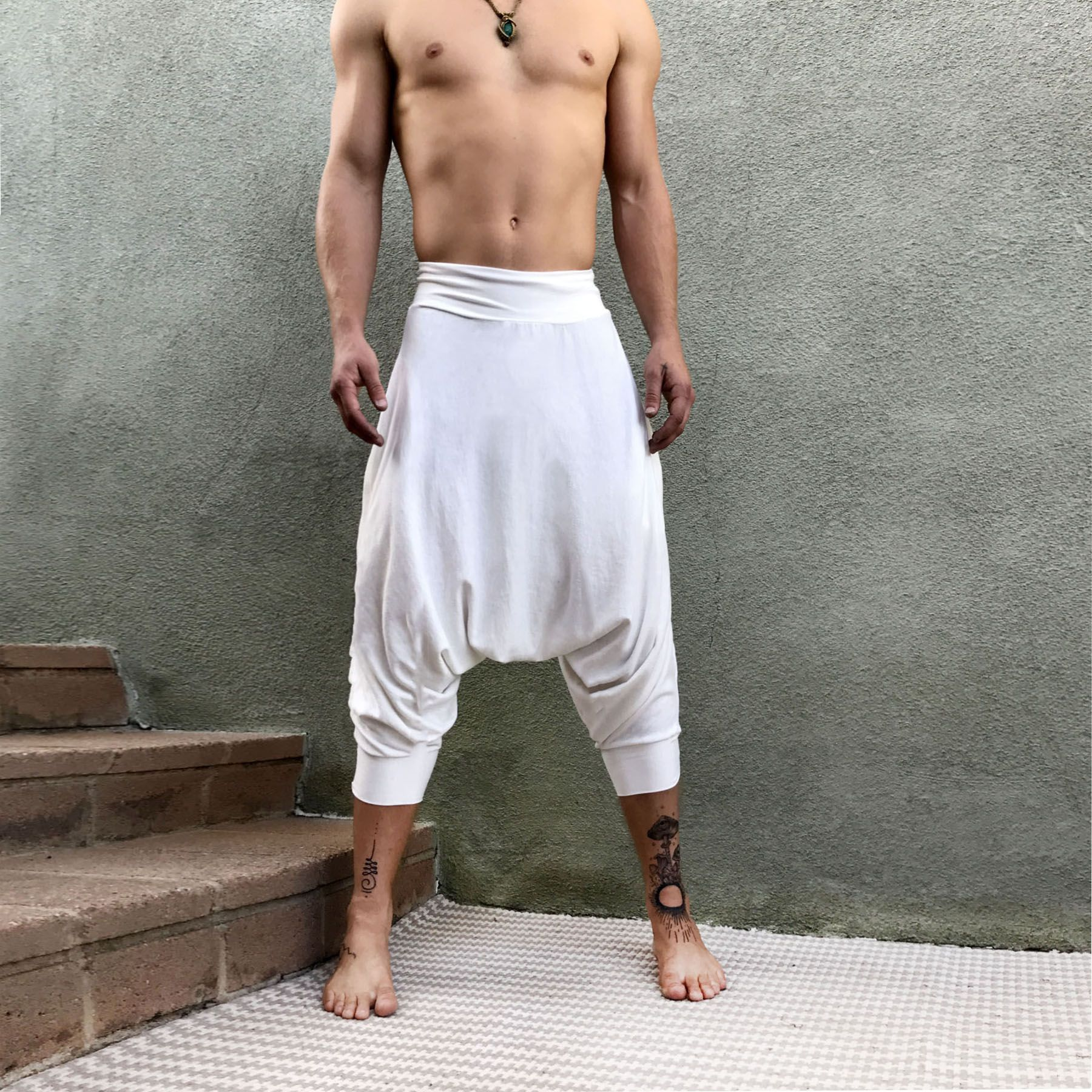 Samurai Pants Ninja Pants Sarouel Femme Sarouel Homme Glorka Harem Pants Women Loose Yoga Pants Burning Man Costume Harem Pants Men