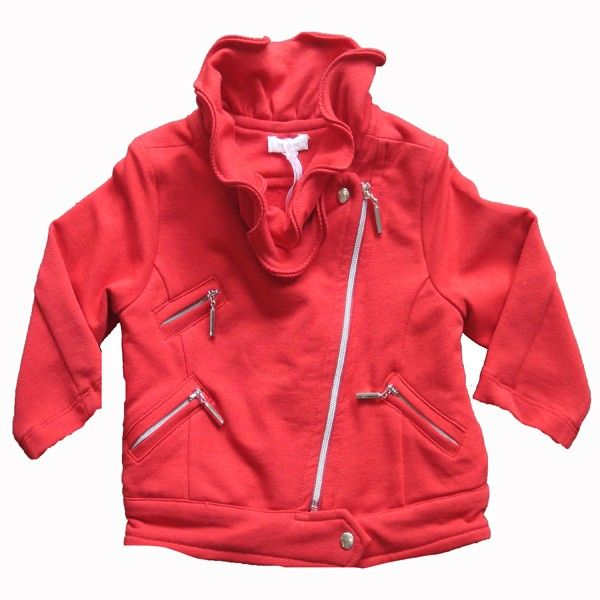 Red #Biker Style Cotton #Jacket - #boy #clothing by @Lyn Guthrie from @kingsandqueenonline.com