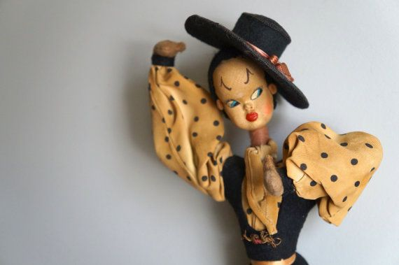 Vintage Spanish Doll  Flamenco Dancer by RavenAndFawn on Etsy, $52.00