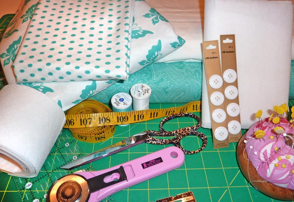 Moda's Half Moon Modern Sewing Room: Tab-Top Butterfly Curtains | Sew4Home