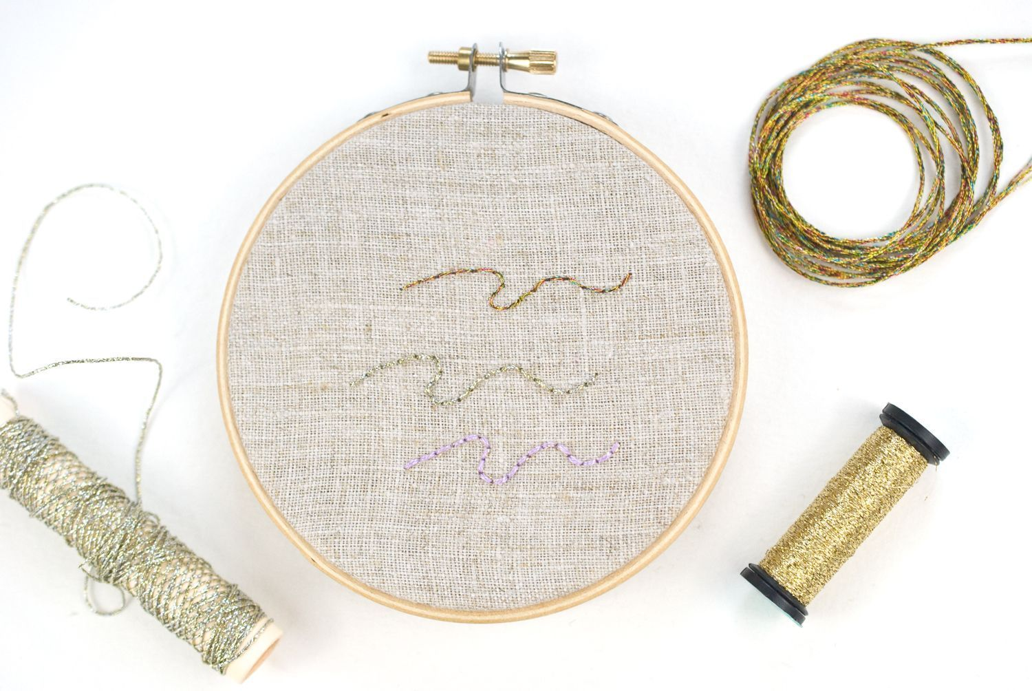 Metallic threads: embroidery how-to