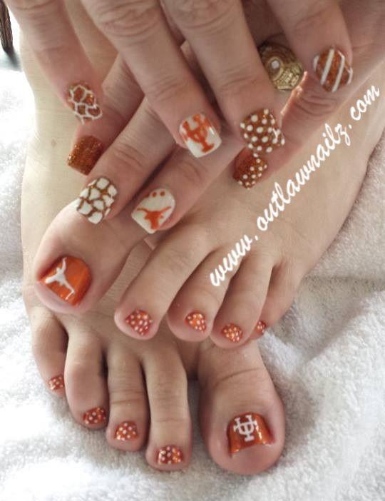 UT toes AND nails?!?! Hook \'em!! | Patty | Pinterest | Pedi, Mani ...