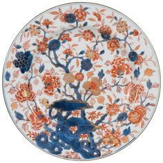 18th century Chinese porcelain charger in the Imari style.