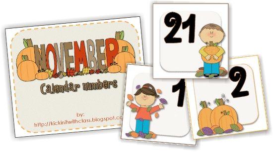 13 Printable Calendar Numbers {Free Download Sets Calendar numbers