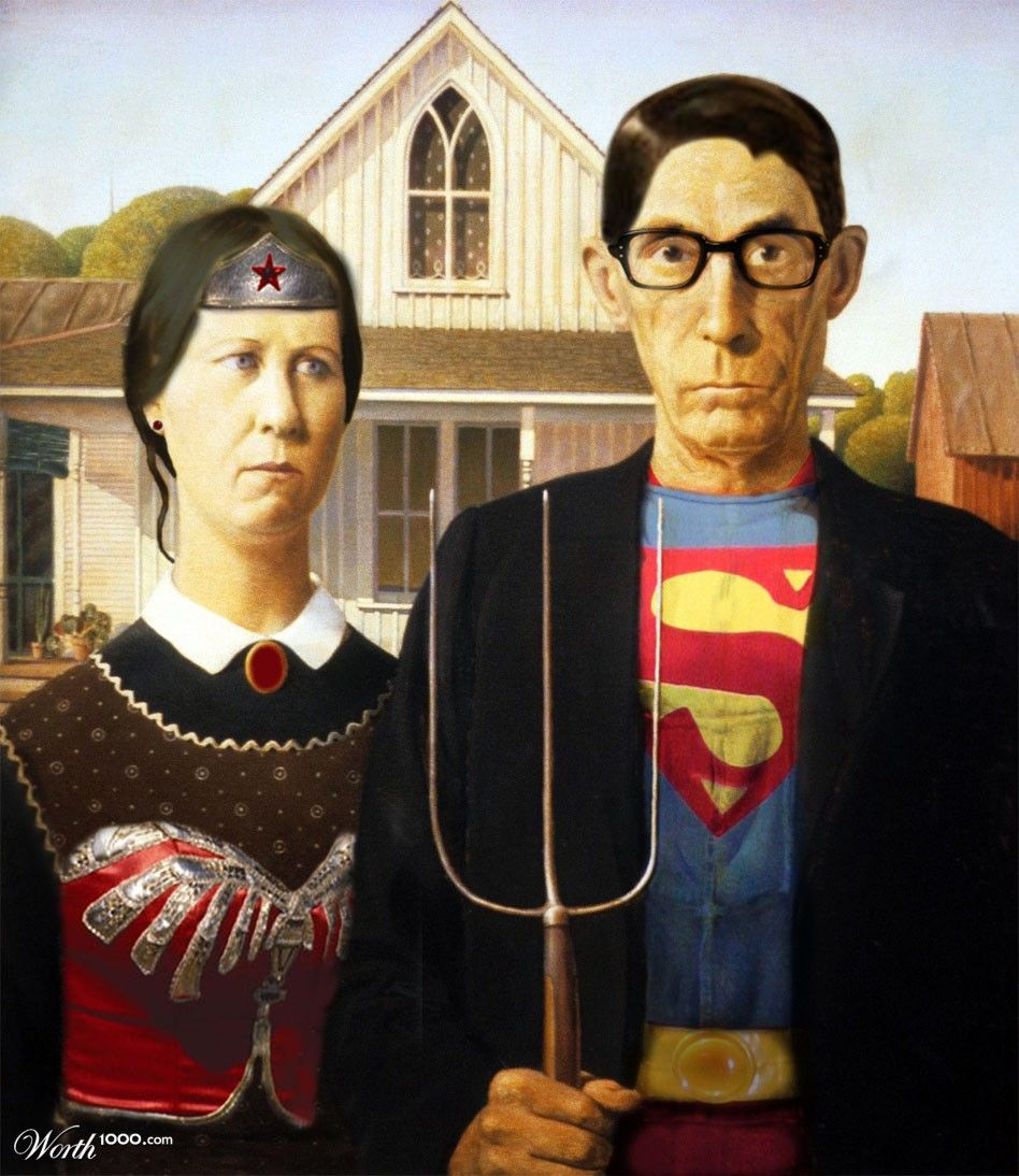 Pin By Liesflipse On Art American Gothic American Gothic Parody American Gothic Painting
