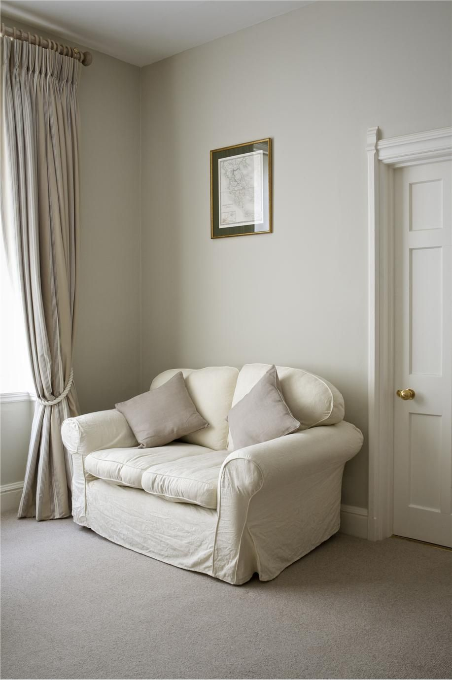 Wall Colour Inspiration: Farrow And Ball Lounge With Walls In Old White Estate