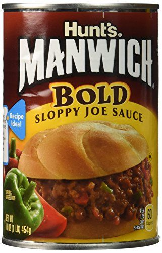MANWICH (BOLD) Sloppy Joe Sauce 16oz 3pack ** Tried it! Love it! Click the image. : Easy Dinner Meals