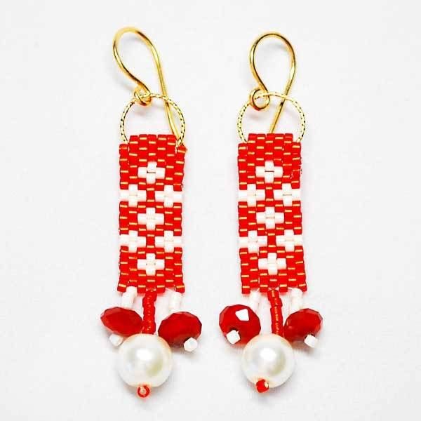 Free Beaded Earrings Tutorial  Perfect For Holidays Holiday Beaded Earrings Tutorial