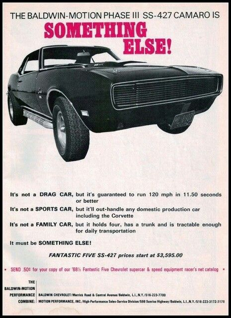 Pin by Odie Kimmell on Zoom!   Camaro, Muscle car ads ...