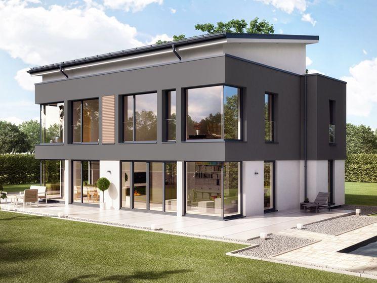 eckfenster virtuelle besichtigung das concept m 165 musterhaus in wuppertal bietet dank seiner verklebten im gardinenlosung fenster