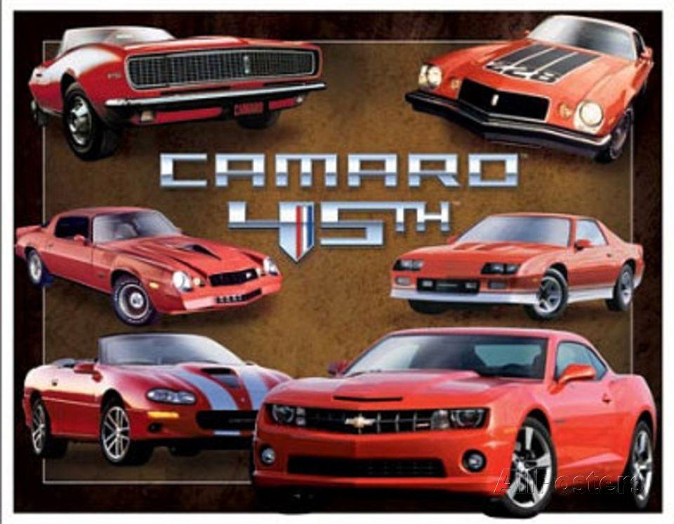 Camaro Chevrolet USA-1 Car Metal Sign