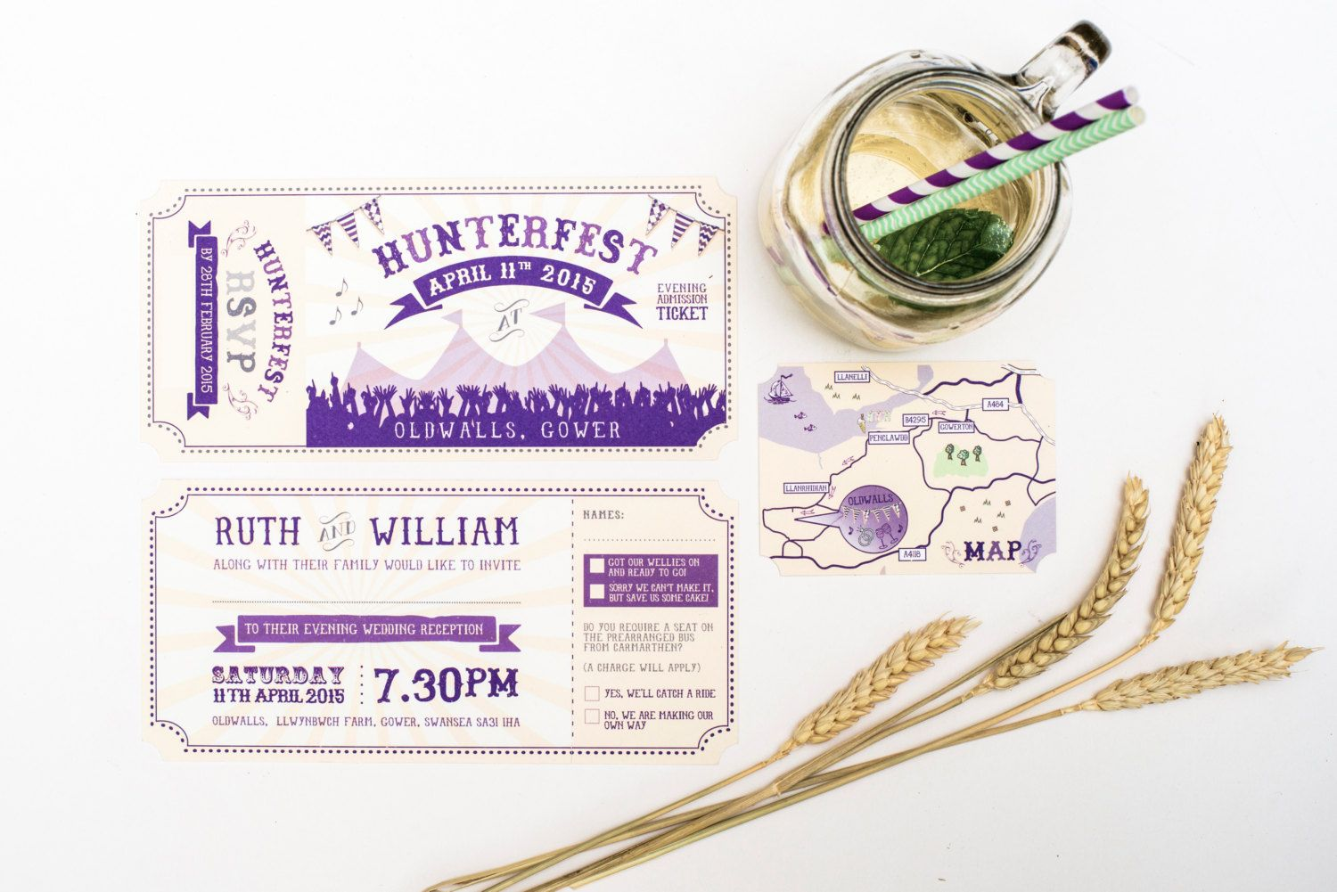 Curious festival Wedding Invitation Sample (With images