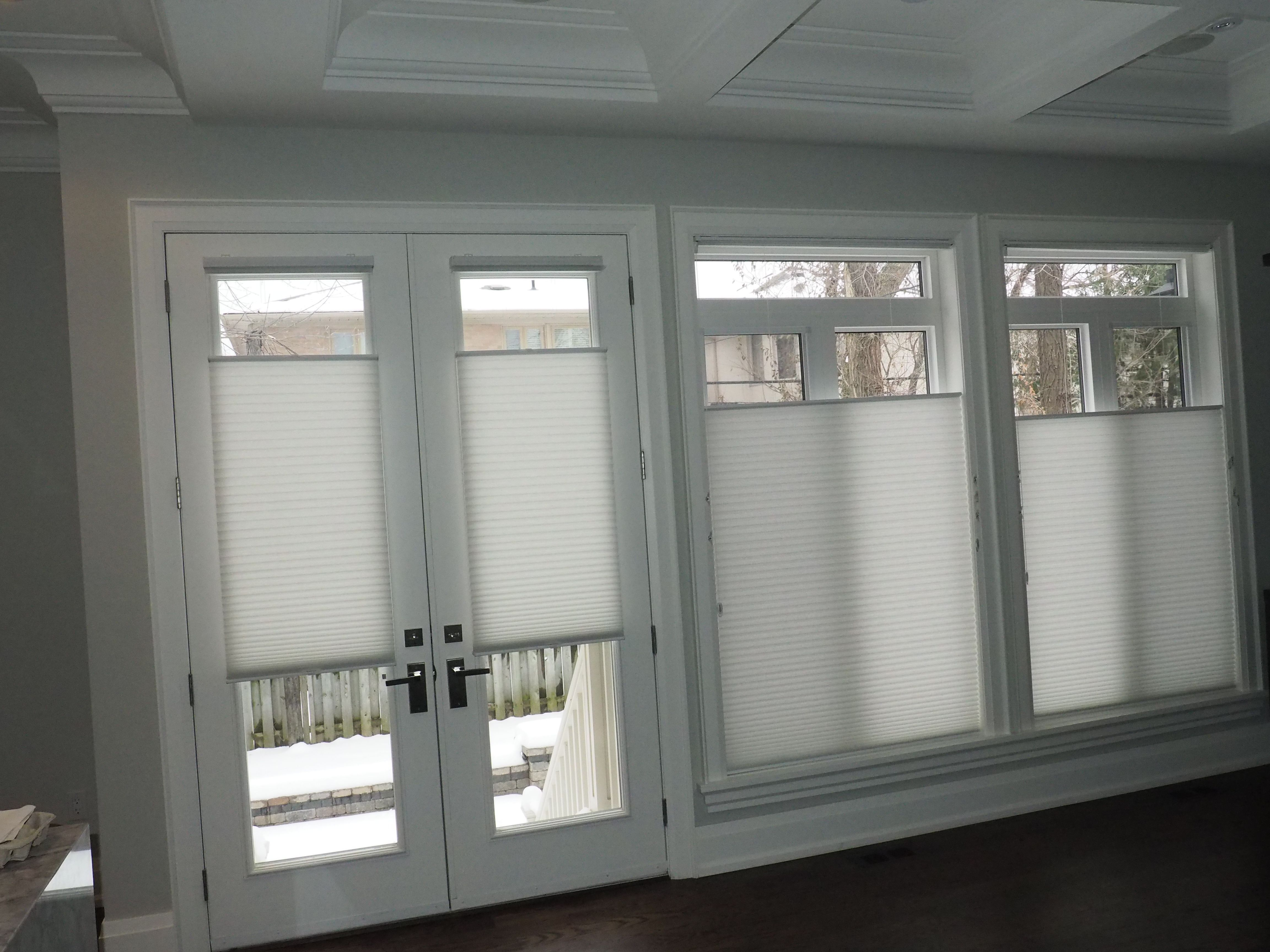 Honeycomb Or Cellular Shades Are A Versatile Solution For Both French Door  Glass And Windows