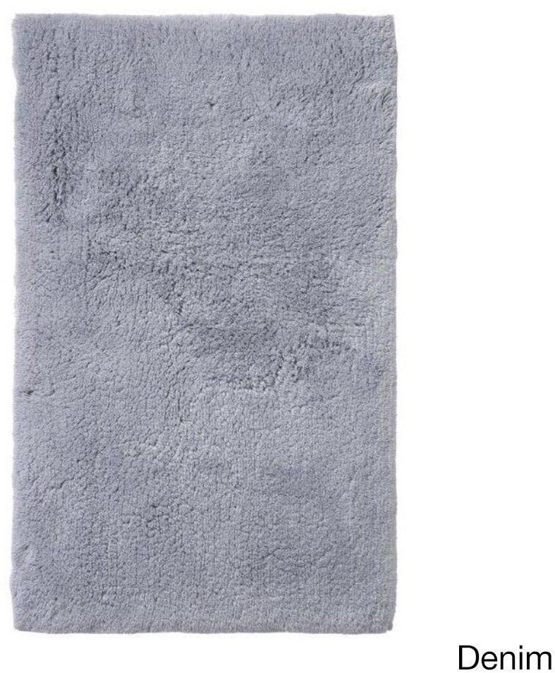 Soft And Plush Denim Cotton Fiber Yarn Bath Rug Non Skid Backing 21 X 34 Inches