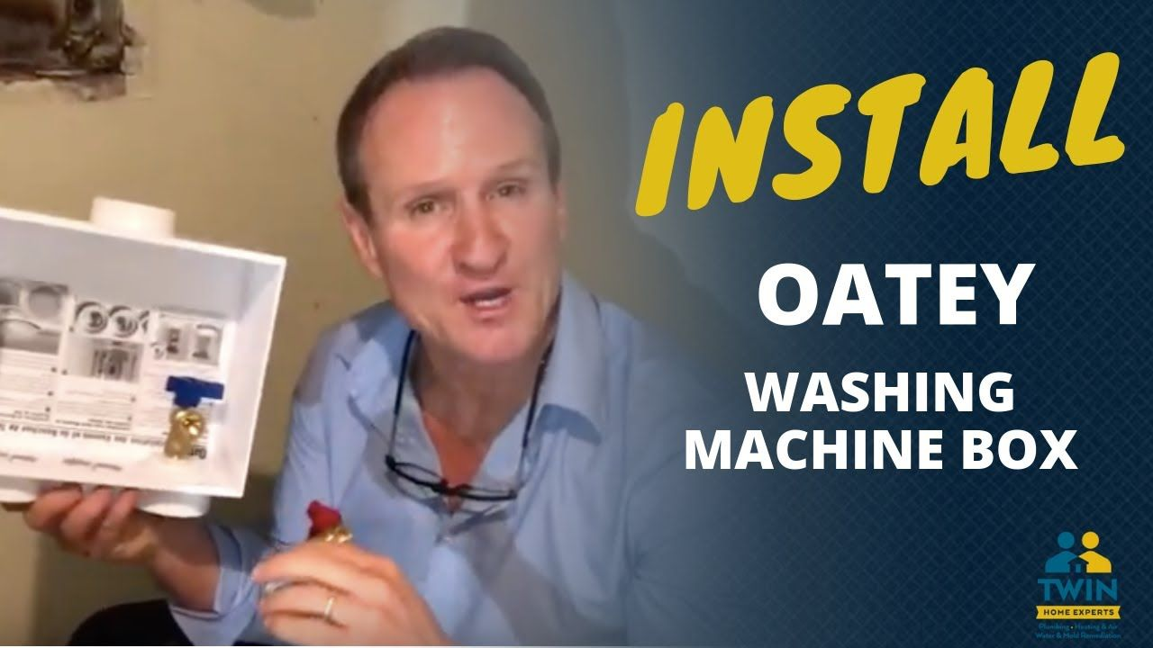 How To Install An Oatey Washing Machine Box In 2020 Washing Machine Installation Washing