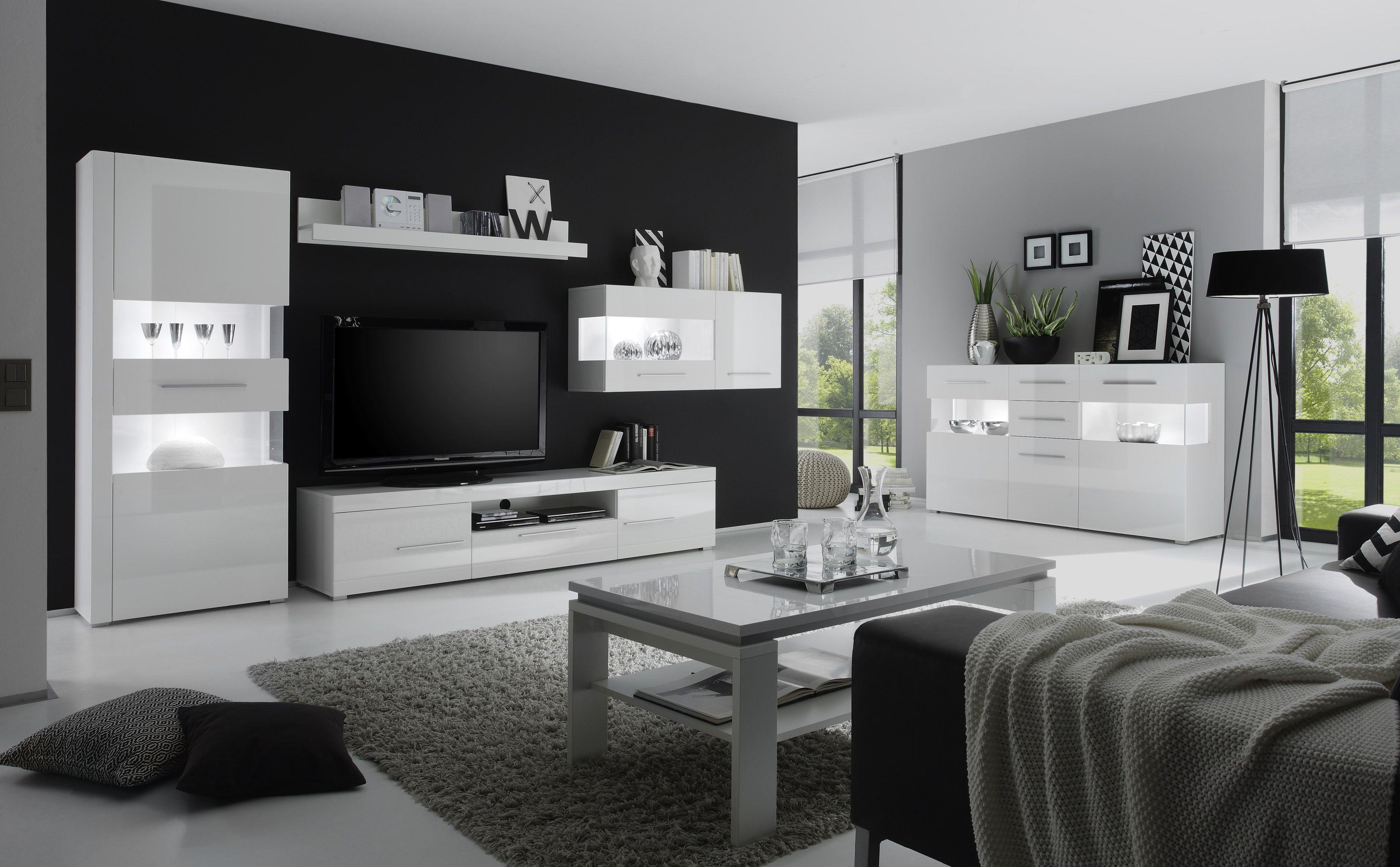 Wohnzimmer board ~ Wohnzimmer weiss hochglanz weiss woody mdf modern jetzt