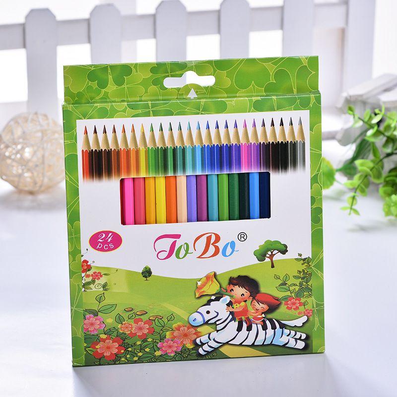 Aliexpress.com: Compre 24 cores lapis de cor lápis de cor lapices de colores profesionales crayon couleur lapis escolar papelaria escolar lapiz de confiança lápis fornecedores em Bagbang