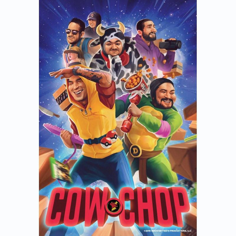 Cow Chop Illustrated Poster (24