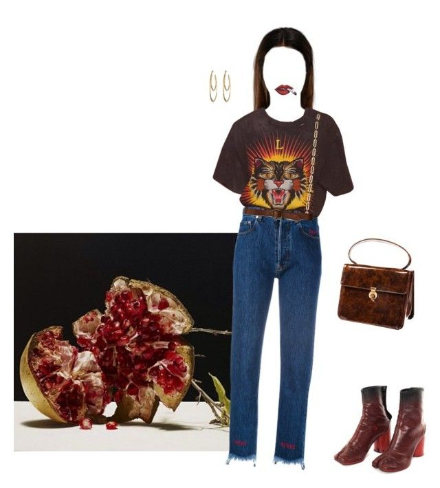 """""""someday #15"""" by hyenaworship ❤ liked on Polyvore featuring Forte Couture, Hollister Co., Alexis Bittar and Maison Margiela"""