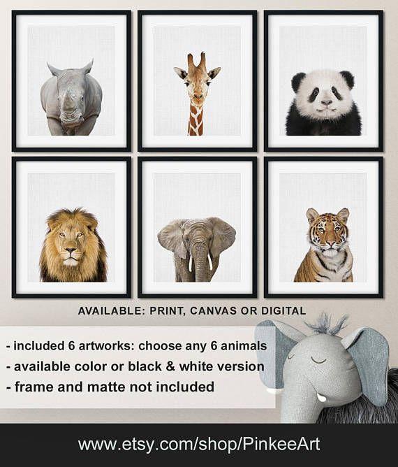 Modern Animal Art Animal Wall Decor Animal Prints For Nursery