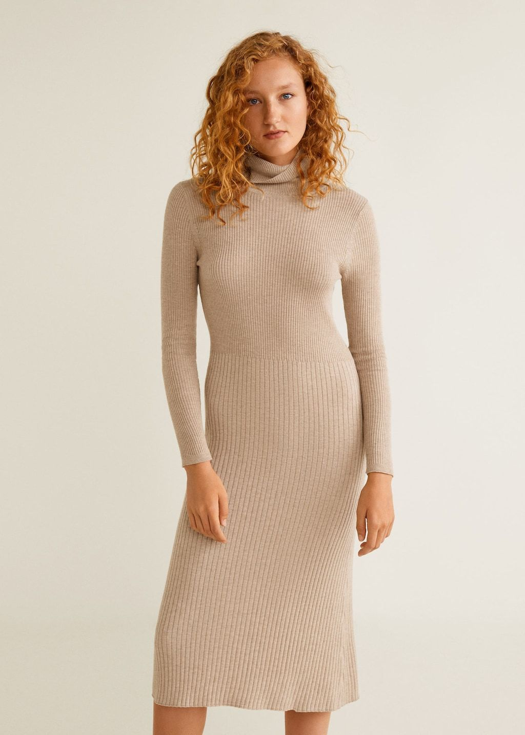 4f74b6f91f0 Ribbed midi dress - Women in 2019
