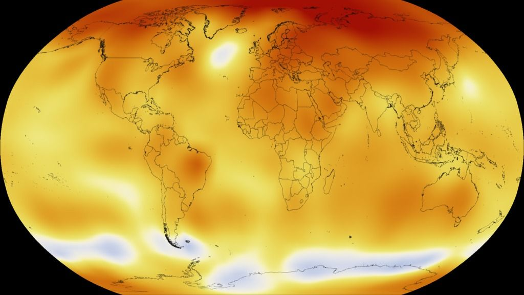 SVS: Five-Year Global Temperature Anomalies from 1880 to 2015
