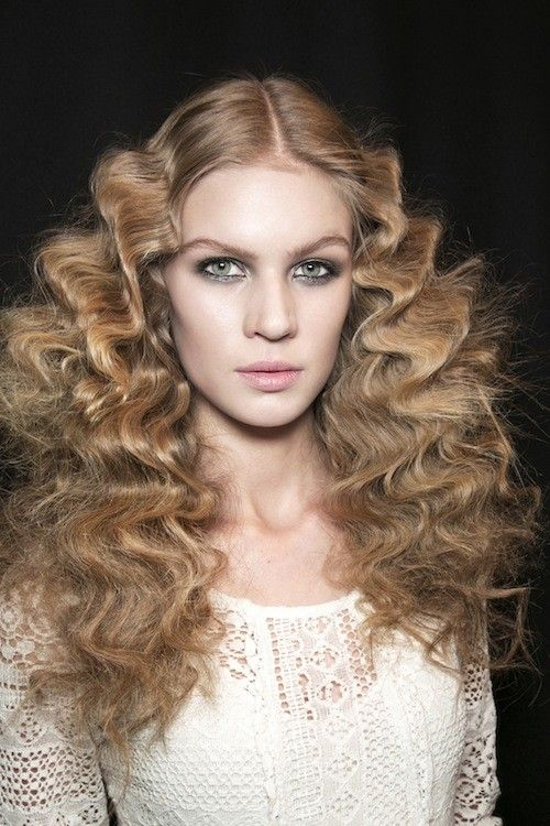 runway-hairstyle-idea-500×750 in 2019 | Woman hair style | Curly ...