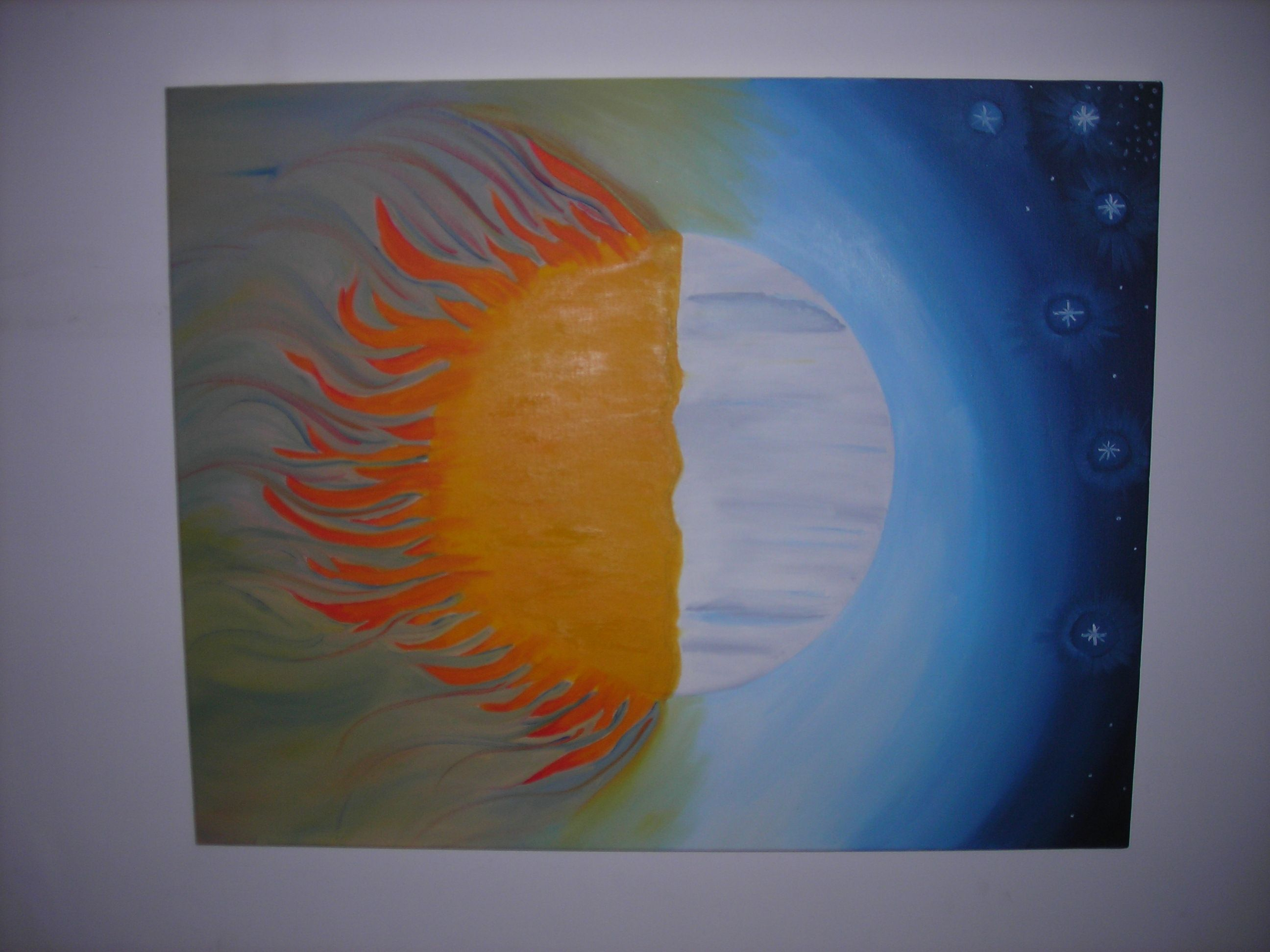 Duality of Nature. Oil on stretched canvas
