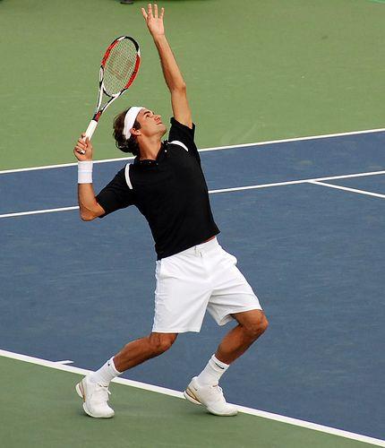 Federer tennis tips for serving