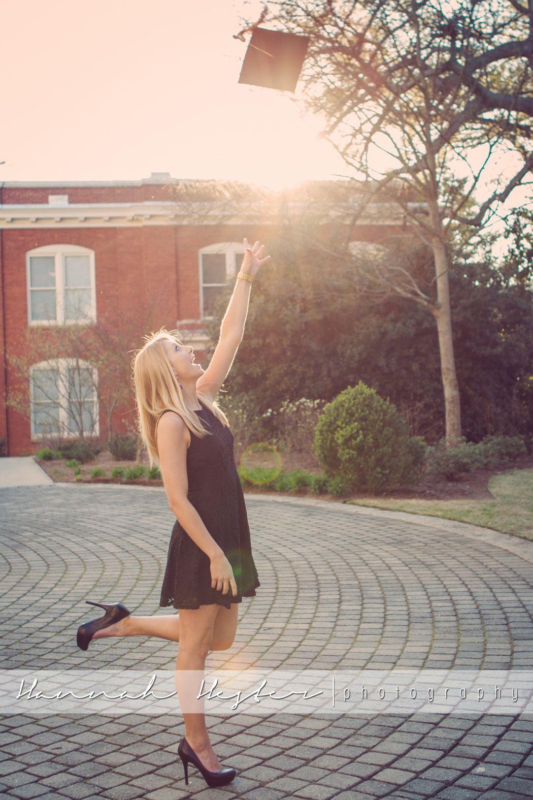 UGA Graduation photo ideas. Toss the cap!