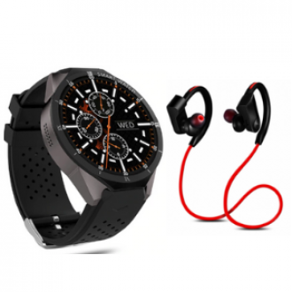 Combo Offer Bluetooth Jogger QC10 WITH KW88 Pro Android 7 0