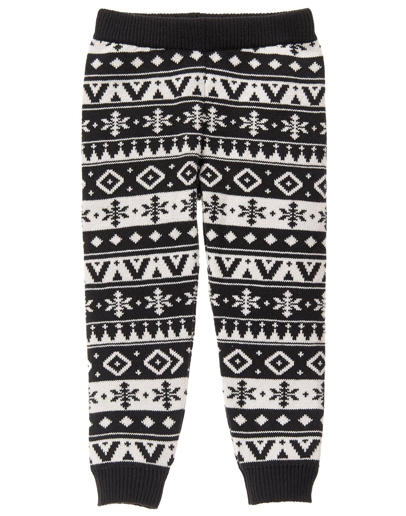 Fair isle sweater leggings