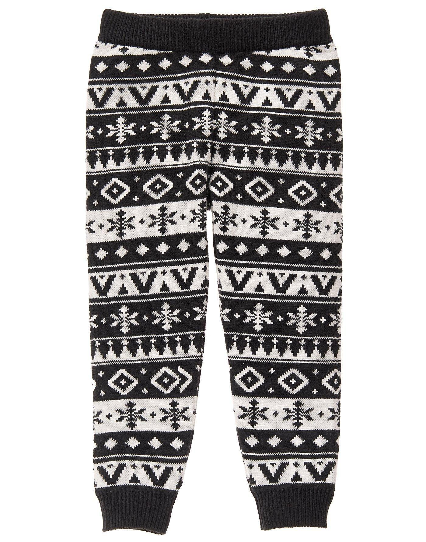 Fair isle sweater leggings
