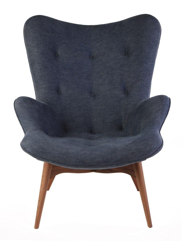 Replica Grant Featherston Contour Lounge Chair Japanese Denim Matt Blatt Lounge Chair Black Cafe Chairs Home Design Magazines