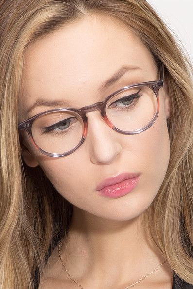 f626d84849 Kyoto Gray Clear Acetate Eyeglasses from EyeBuyDirect.