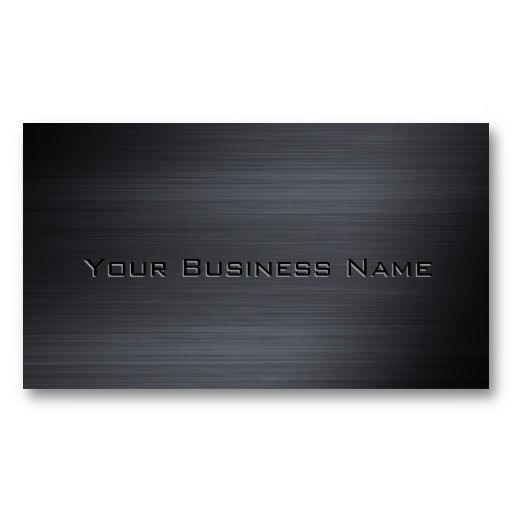 Black Brushed Metallic Corporate Business Card Zazzle Com Cool Business Cards Corporate Business Card Corporate Business