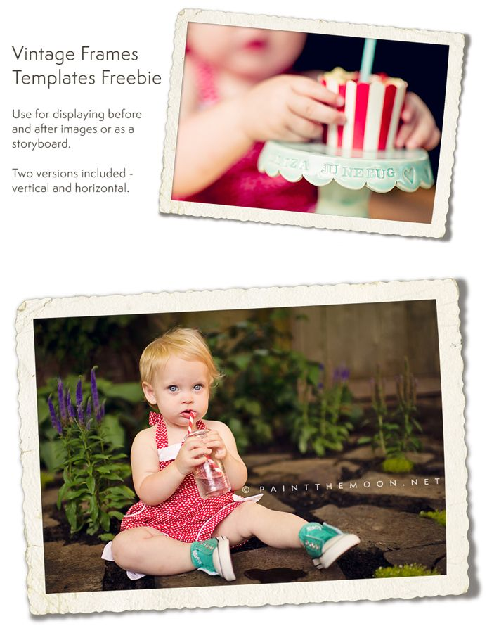 Before and After Free Vintage Frames Collage Actions Templates ...