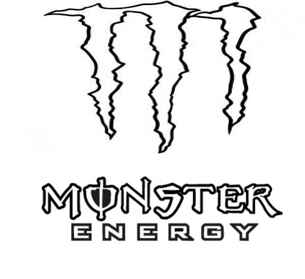 monster energy drink coloring pages