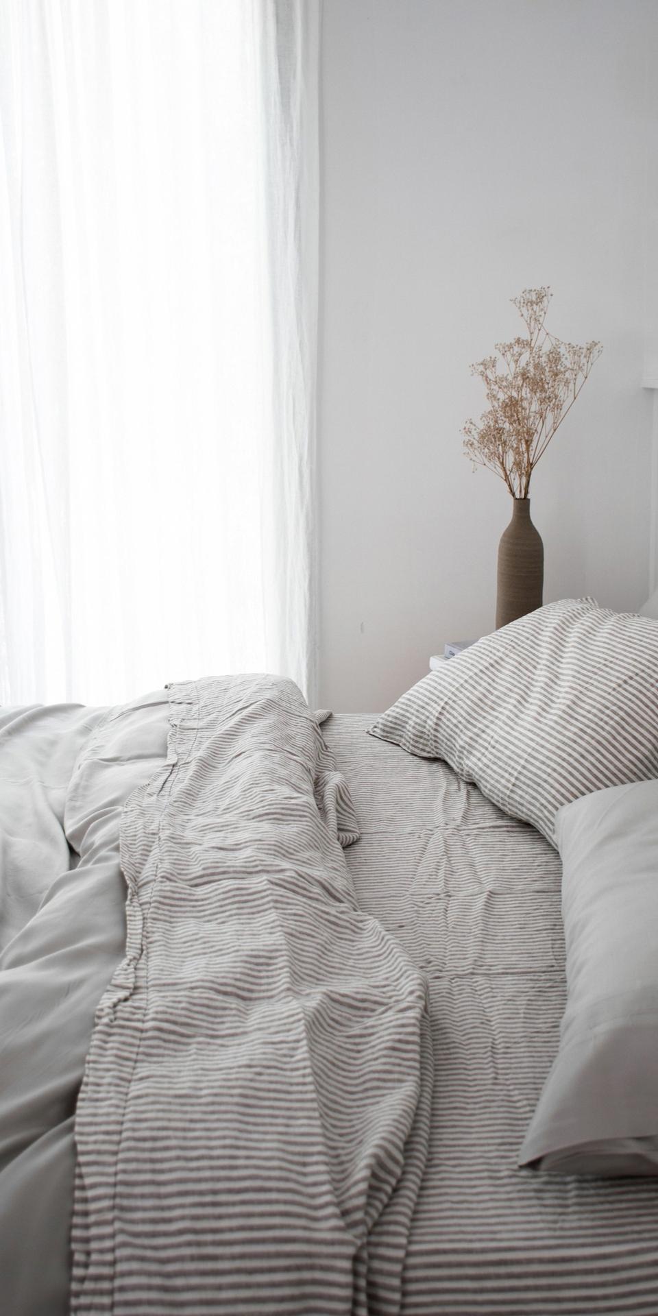 Ultra Luxurious 100 Pure French Linen Sheet Set In Soft Grey Stripes Bettideenschlafzi In 2020 Luxusschlafzimmer Schlafzimmer Inspirationen Schlafzimmer Einrichten