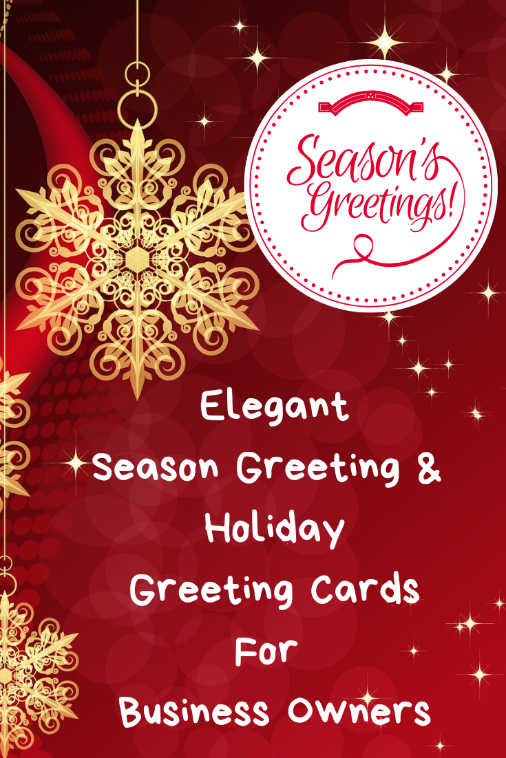 Elegant and Professional Business Season Greeting Cards