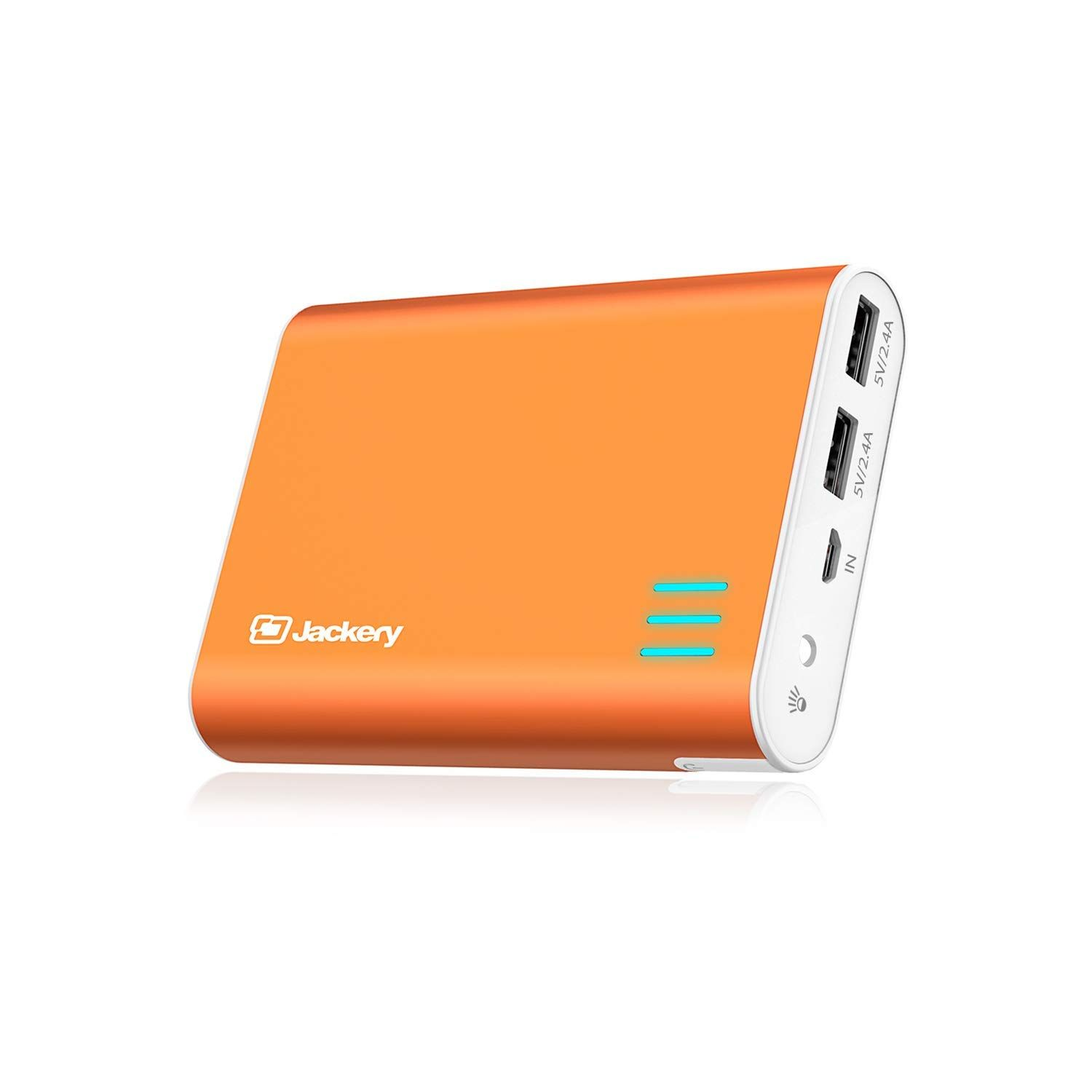 Jackery External Battery Charger Giant 12000mah Dual Usb Portable Battery Charger External Battery Pack Phone Backup Power Bank With Emergency Flashlight For I