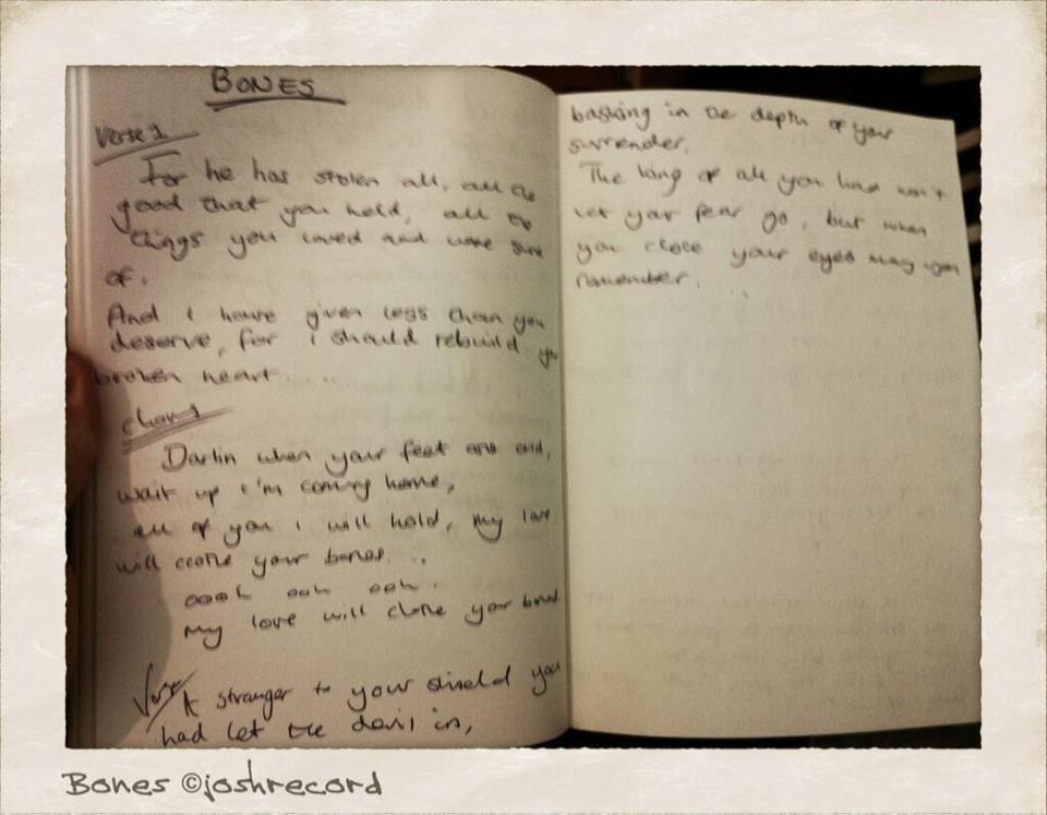 Lyric bones lyrics : Josh Record - Bones Lyrics; not really a quote, but I love this ...