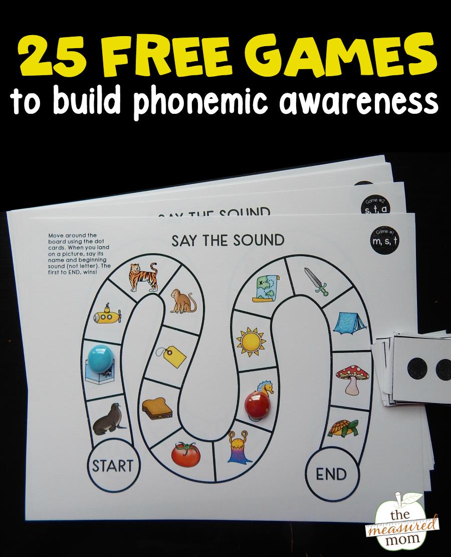 25 Free Phonemic Awareness Games