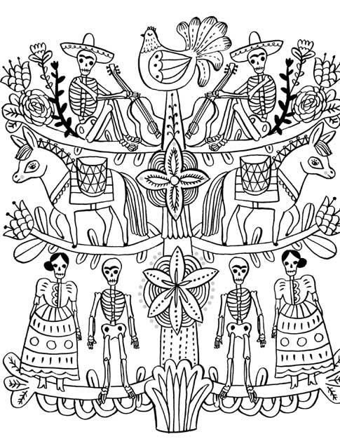 Image result for Day of the Dead Coloring Book (Coloring Is Fun ...