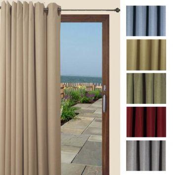 Glasgow Grommet Patio Curtain Panel By Ricardo Patio Door Curtains Patio Curtains Panel Curtains