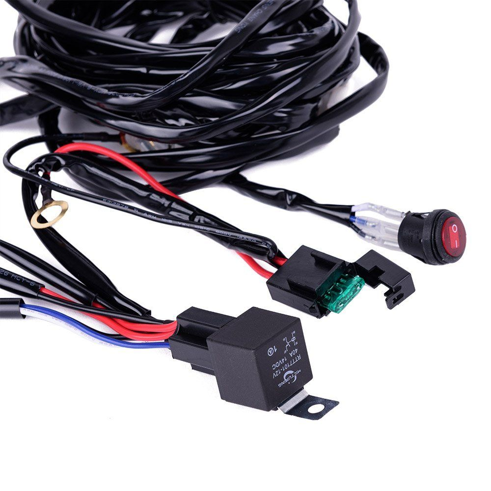 5b2cc513c60e190f8fd08f53bd76d378 amazon com mictuning hd 300w led light bar wiring harness 40amp led light bar wiring harness amazon at gsmx.co
