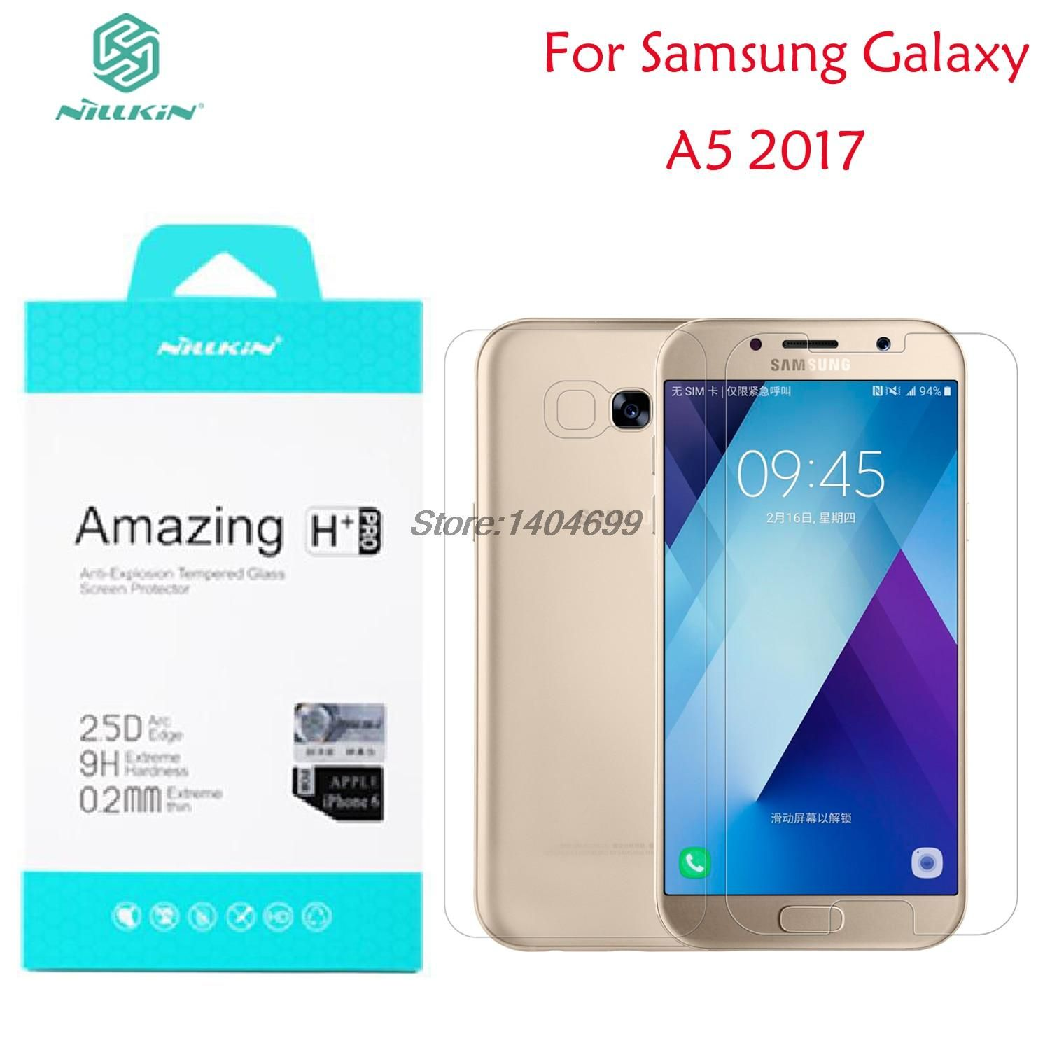 SFor Samsung Galaxy A5 2017 Screen Protector Nillkin Amazing H & H PRO Tempered Glass