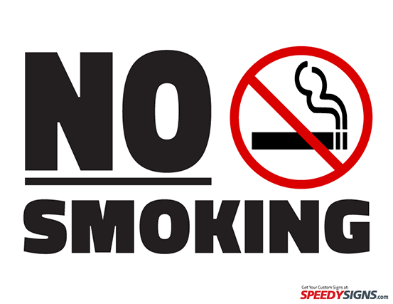 Free No Smoking Printable Sign Template | Free Printable Signs ...