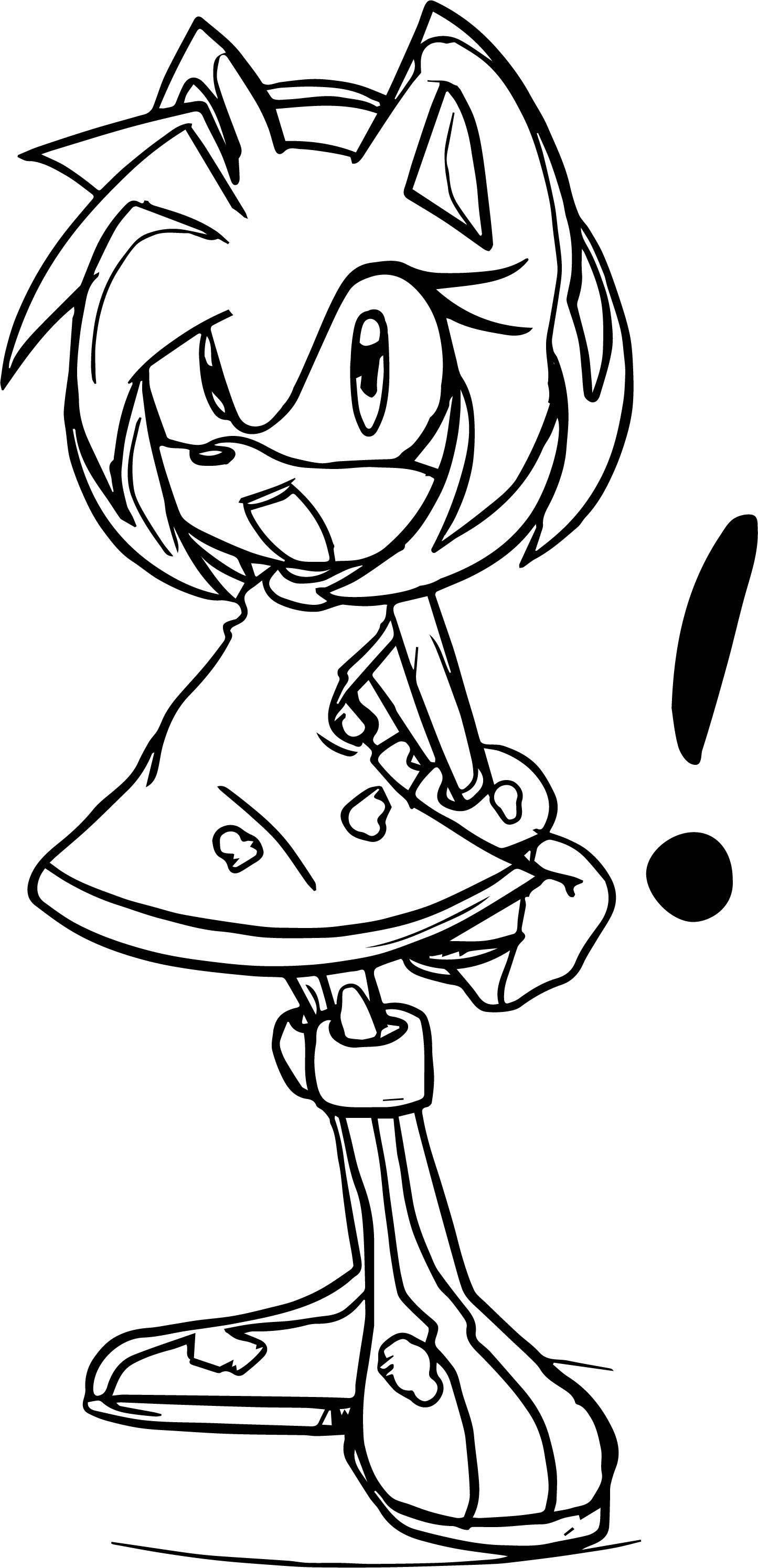 Awesome Amy Rose Accent Coloring Page Amy Rose Coloring Pages Color